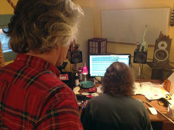 Bob and Pat working in Pro Tools